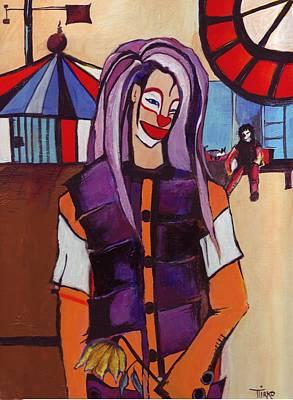 Clown Pourpre Art Print by Mirko Gallery