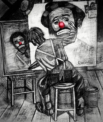 Tears Drawing - Clown by Rishabh Ranjan