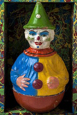 Clown Toy In Box Art Print by Garry Gay