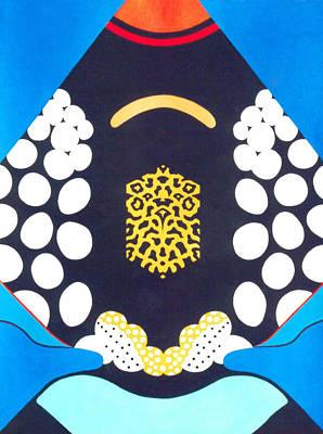 Painting - Clown Trigger Fish Abstract Art by David Clode