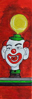 By Patricia Arroyo Painting - Clown With Yellow Balloon by Patricia Arroyo