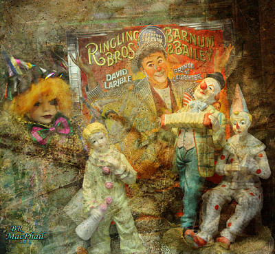 Clowning Bright Art Print by Barbara R MacPhail