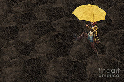 Cafe Art Digital Art - Clowning On Umbrellas 03 - A12 by Variance Collections