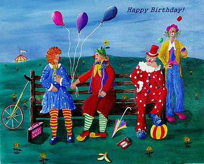 Painting - Clowns Birthday by Sandy Wager