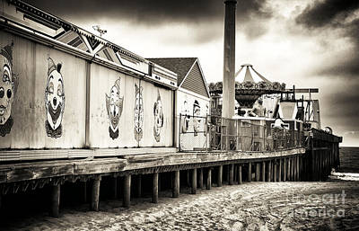 Seaside Heights Photograph - Clowns On The Pier by John Rizzuto