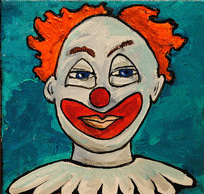 By Patricia Arroyo Painting - Clowny At Age 47 by Patricia Arroyo