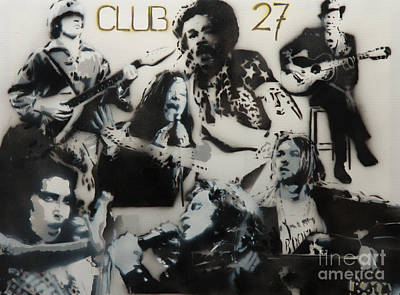 Club 27 Art Print by Barry Boom