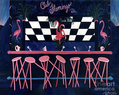 Painting - Club Flamingo by Lizi Beard-Ward