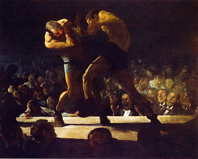Ohio Painting - Club Night  by George Wesley Bellows