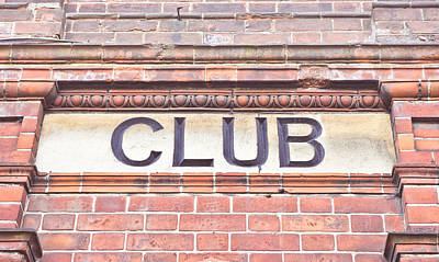 Marble Blocks Photograph - Club Sign by Tom Gowanlock