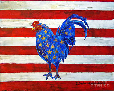 Painting - Cluck-a-doodle Dandy by Susan Greenwood Lindsay