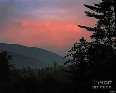 Clucks West Ossipee Mountain Sundown Art Print