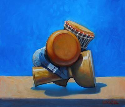 Painting - Cluster Drum by Kevin Lawrence Leveque