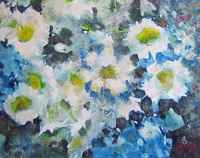 Painting - Cluster Of Daisies by Richard James Digance