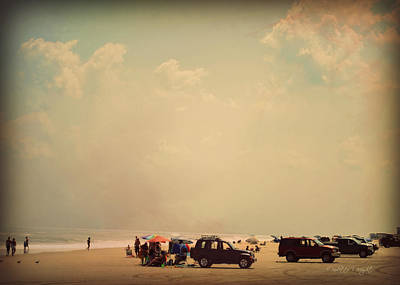 Photograph - Clustered Beach Umbrellas by Paulette B Wright