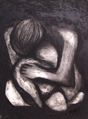 Drawing - Clutching by Angela Stout