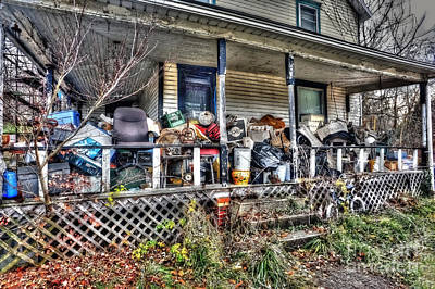 Photograph - Clutter House Porch  by Dan Friend