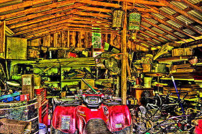 Photograph - Cluttered Garage by Jonny D
