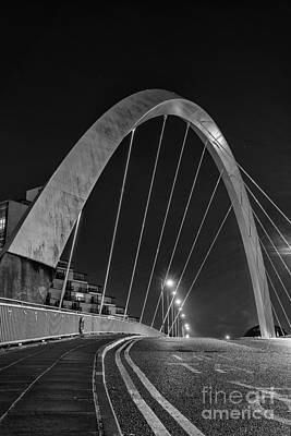 White River Scene Photograph - Clyde Arc Glasgow Squinty Bridge by John Farnan