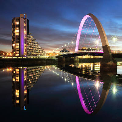 Photograph - Clyde Arc Twilight by Grant Glendinning