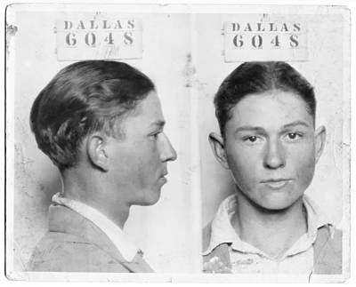 Clyde Barrow Mugshot Art Print by Daniel Hagerman