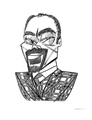 Walt Drawing - Clyde Walt Frazier by Tom Bachtell