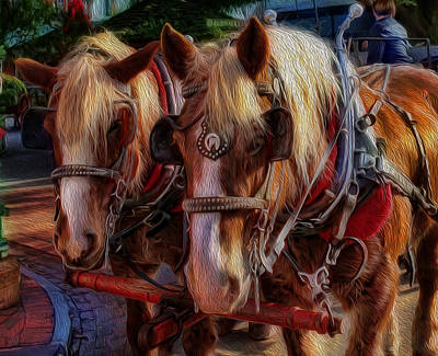 Clydesdale-drawn Carriage  Art Print