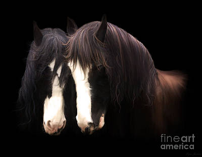 Draft Horse Digital Art - Clydesdales by Lynn Jackson