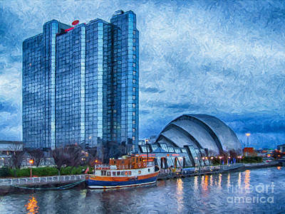 Regeneration Painting - Clydeside Glasgow Painting by Antony McAulay