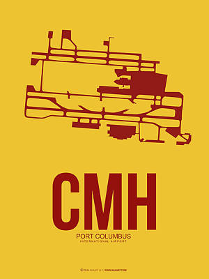 Jet Mixed Media - Cmh Columbus Airport Poster 3 by Naxart Studio
