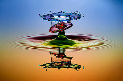 Water Drops Photograph - Cmyk by Muhammad Berkati