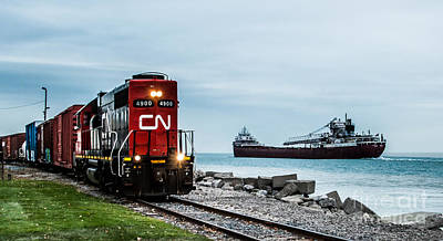 Photograph - Cn 4900 And Arthur M. Anderson by Ronald Grogan