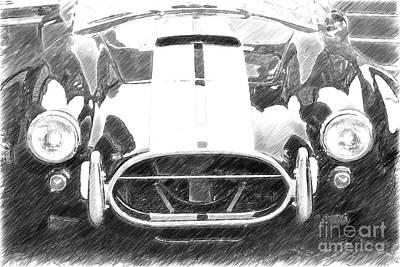 Cn Cobra Classic Carl Front Sketch Art Print by Heiko Koehrer-Wagner