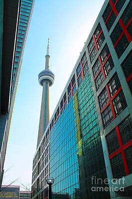 Photograph - Cn Tower And The Cbc by Nina Silver