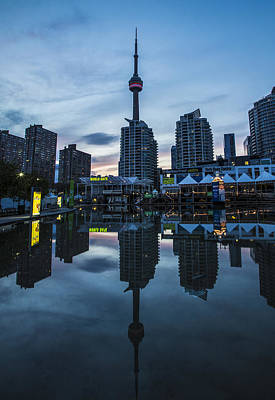 Photograph - Cn Tower At Blue Hour by John McGraw