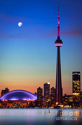 Exteriors Photograph - Cn Tower At Dusk by Inge Johnsson