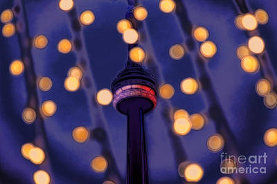Photograph - Cn Tower Festive Lights by Charline Xia