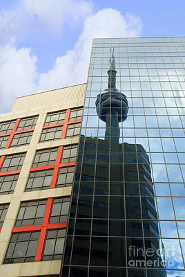 Photograph - Cn Tower Reflection by Brenda Kean