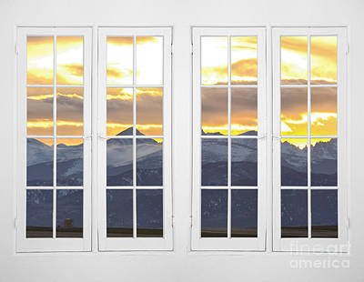 Co Mountain Gold View Out An Old White Double 16 Pane White Window Original