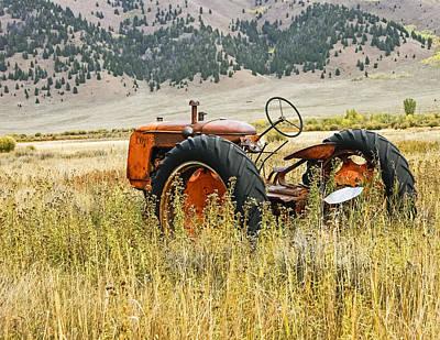 Co Op Tractor Art Print