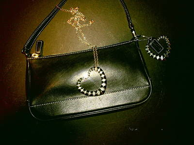 Coach Bag With Space Love Bling Print by Robert Cunningham