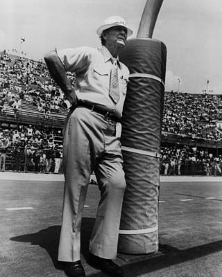 Gingham Photograph - Coach Bear Bryant by Retro Images Archive