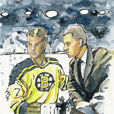 Bobby Orr Painting - Coaches Corner by Paul Smutylo