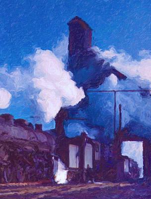 Digital Art - Coal Station by Chuck Mountain