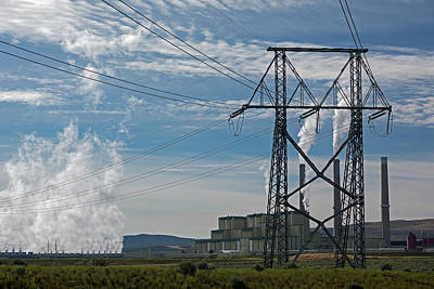 Coal-burning Power Station Art Print