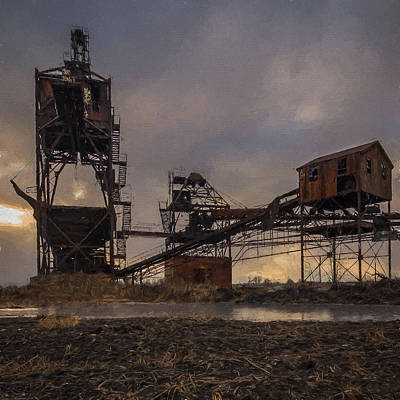 Photograph - Coal Conveyor And Loader - Artisitic by Chris Bordeleau