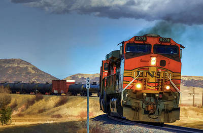 Photograph - Mixed Freight On The Joint Line by Ken Smith