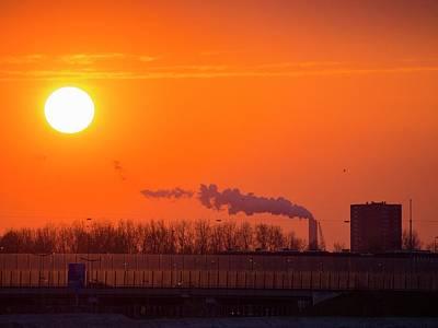 Coal Fired Power Station Art Print