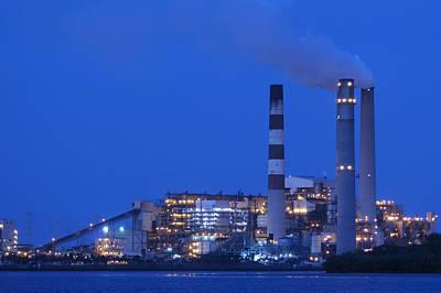 Photograph - Coal Fired Powerplant by Bradford Martin