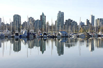 Photograph - Coal Harbour In Vancouver Bc by Marilyn Wilson